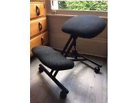 Orthopaedic kneeling chair hardly used.