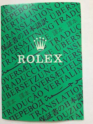 Vintage Rolex Oyster Translation Booklet Brochure 565.00.5W