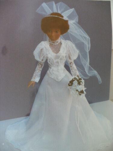 18 INCH BARBIE/TIFFANY TAYLOR MODERN WEDDING GOWN   PATTERN