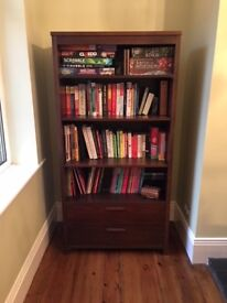 Bookcase with 2 x draws - details within
