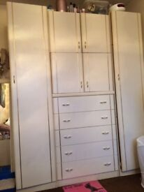 over bed wardrobes and chest of drawers