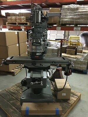 Bridgeport Milling Machine With 42table 2hp Vari Speed Head Kurt Vise Dro