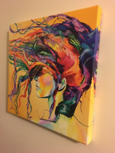 """""""WINDSWEPT"""" BY MAXWELL DICKSON CANVAS WRAP ON WOOD FRAME 18 X 18"""