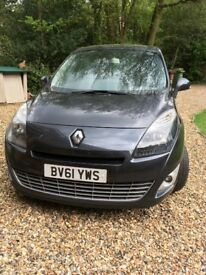 Renault Grand Scenic for Sale. Seats 7. Dark Grey. 1598cc. Diesel engine. Ideal family car