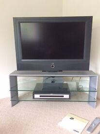 "LOEWE. 32"" TV, LOEWE DVD player and LOEWE stand"