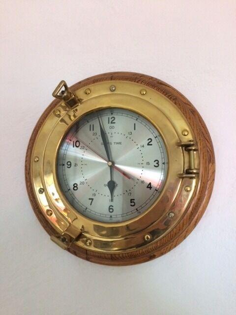 Large Stunning Porthole Maritime Clock