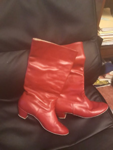 LEATHER DANCE BOOTS