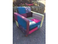 Beautiful multi coloured chair high quality