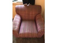Purple Stripped Arm Chair mint condition