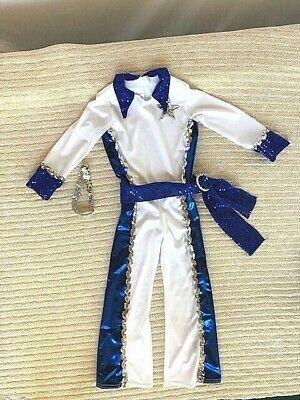 Blue & White Youth One Piece Jumpsuit Dance - Dance Jumpsuit Kostüme