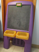 must go little tykes chalk board paint craft easel