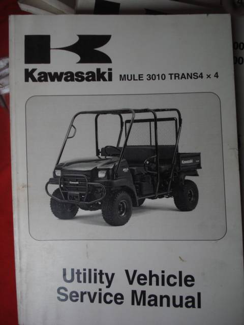 kawasaki kaf 620 mule 3010 4x4 full service repair manual 2005 2006