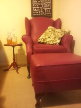 Gorgeous Red Wingback Armchair with Ottoman Brisbane City Brisbane North West Preview