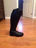 Women's leather field boots