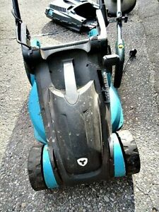 Yardworks Compact Lawn Mower + String Trimmer + Extension Cord