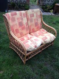 Wooden double settee