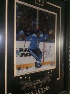 2 cadres signés Sidney Crosby