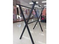 Black Double Clothing Rail for Retail Shop Display