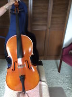 1/4 size cello outfit