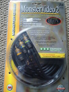 MONSTER CABLES 2 for HD video,tv, audio etc New in pack