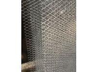 Galvanised metal mesh lath