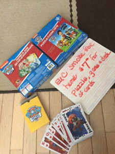 Paw patrol game / puzzle / cards