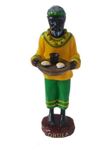 "5"" Orisha Orula Statue Orunmila Santeria Yoruba Lucumi 7 African Powers"