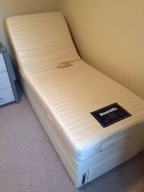 Dunlopillo 2 single beds (one fully adjustable) link together to make a double (only1 single shown)