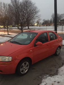 SELLING 2005 CHEVROLET AVEO WITH NEWLY PURCHASED TIRES
