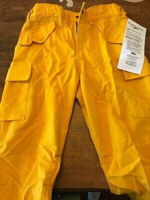 Yellow Nomex Pants Fireline Pgi Wildland Forestry Brush Firefighting Size M-r