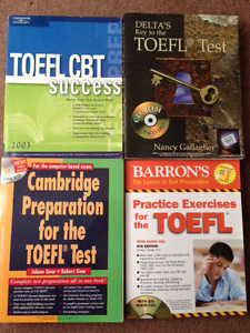 Set of 4 TOEFL test preparation books & discs