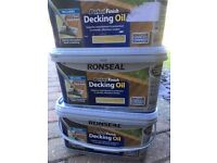 Ronseal Perfect Finish Decking Oil - Three x 2.5litres - Natural