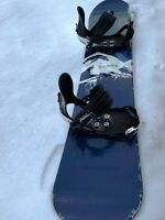Morrow 159 Siphon snowboard with Ride binding