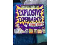 Horrible Science Explosive Experiments The Kit. Unused