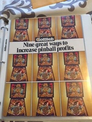 USED GOTTLIEB TIME LINE PINBALL MACHINE BROCHURE FLYER.