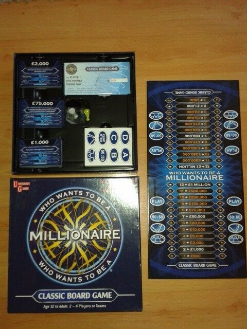 Who Wants To Be A Millionaire Classic Board Game In