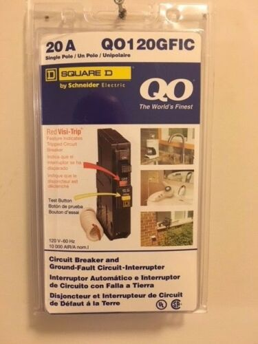 Square D (QO120GFIC) 20 amp ground fault circuit interrupter