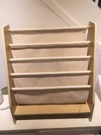 Natural Canvas CHILDRENS SLING BOOKCASE – toddler's book shelf, pickup from W1G