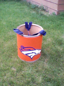 EXTREMELY-RARE-Denver-Broncos-Barrel-Man-OFFICIAL-GAME-USED-BARREL-w-LOA