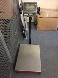 Set of working industrial electric scales