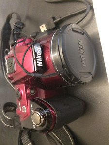 Red NIKON COOLPIX L120 Camera $110