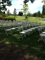 OUTDOOR CEREMONY?  NEED CHAIRS, TABLES, ARBOUR?