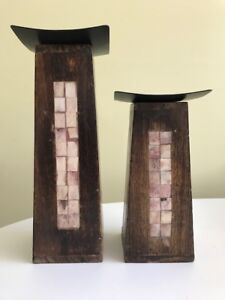 2 bougeoirs / Two candelholders (Pier 1 Imports)