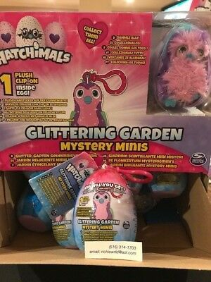 New Hatchimals Glittering Garden Adorable Mystery Mini Plush Clip On Super Gift