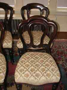 Antique Mahogany Balloon Back Dining Chairs, Carved, Set of 4 Kitchener / Waterloo Kitchener Area image 5