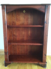 Mahogany Stained Pine Bookcase