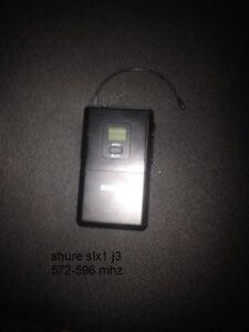 shure slx1 transmitter j3 572-596mhz