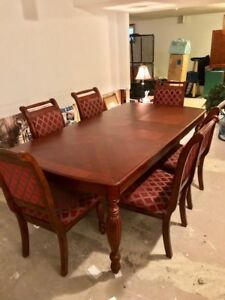 Dinning table set with 6 chairs - cherrywood