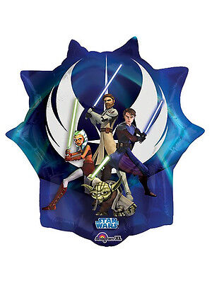 Star Wars Shaped Balloon - Star Wars Clone Wars Cartoon Kids Birthday Party Foil 28