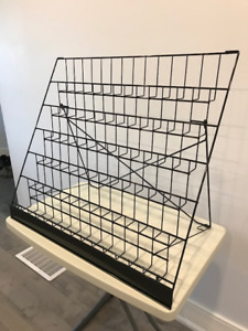 2 - 6 SHELF BLACK WIRE COUNTER TOP DISPLAYS